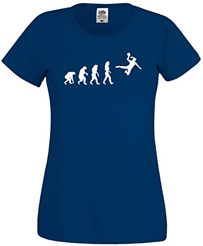 Handball Damen Evolution T-Shirt WM Shirt EM Trikotmarineblau-L