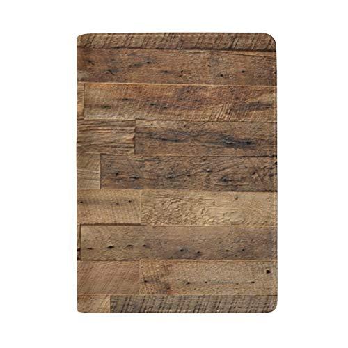 Old Grunge Dark Strukturierte Holz Blocking Print Passinhabers Abdeckung Fall Reisegepäck Passport Wallet Kartenhalter Mit Leder Für Männer Frauen Kinder Familie -
