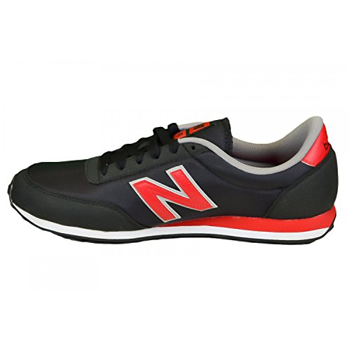 New Balance U410 D, Baskets mode mixte adulte Noir, rouge, blanc et gris