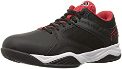 Fila Men s Bank Basketball Shoe Black/Fila Red/White 8.5 D(M) US