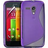 Motorola Moto G Premium TPU Hydro Gel Case Cover + FREE Screen Protector and Polishing Cloth + Capacitive Stylus / Touch Pen (PURPLE)