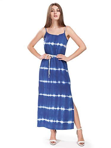 FRAMBO Kleid Streifen Print in Batik-Muster Freizeit Frühling Sommer -