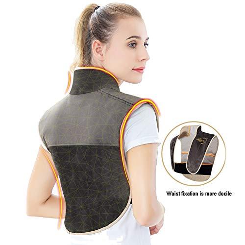 QIYU Heizkissen Nacken Schulter und Rücken, Nacken und Schulter Wärmekissen, Wärmedecke, lindert Schmerzen im Nacken und Rücken