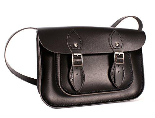 Oxbridge Satchel Shop , Damen Satchel-Tasche schwarz S -
