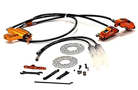 Integy Hobby RC Model BAJ226ORANGE Billet Machined Type IV Hydraulic Front Brake System for HPI Baja 5B, 5T & 5SC