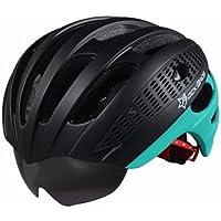 RockBros Bicicleta Casco Casco de carretera Casco para bicicleta con desmontable Cambio vasos 57–62cm 5Colores, color azul y negro, tamaño extra-large