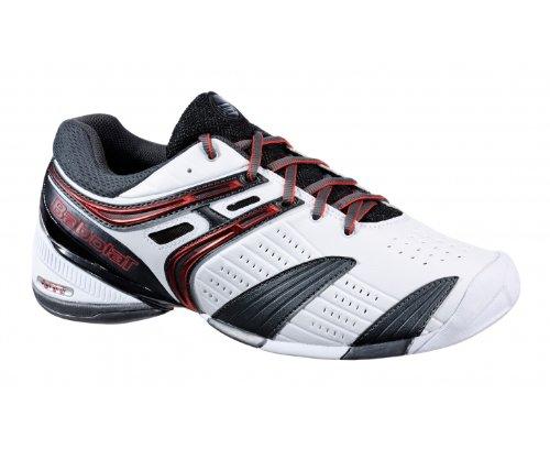 BABOLAT V-Pro All Court Scarpa da Tennis Uomo, Bianco/Nero/Rosso, 46