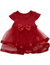6b7b60dbc Amazon.es  Rojo - Vestidos   Niñas de hasta 24 meses  Ropa
