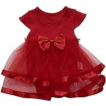 Vestido para Niñas, K-youth® Venta Caliente 2018 Ropa Bebe Niña Recien Nacida Vestido Bebe Chica Bowknot Florales Vestidos de Fiesta Princesa Tutú Para 0-24 meses