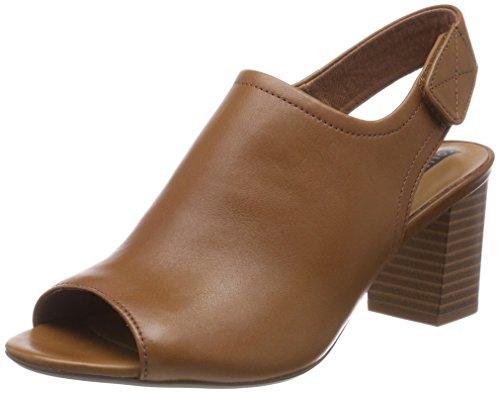 Schuhe Clark Wedges (Clarks Damen Deva Jayleen Slingback Sandalen, Braun (Tan Leather), 39 EU)