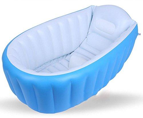 OOFWY Baby aufblasbare Badewanne, bewegliches Säuglingskleinkind nicht Beleg Baden Tub Reise Badewanne Thick Faltbare Duschbecken , A
