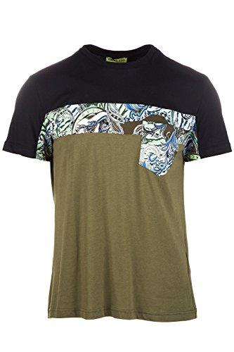 Versace Jeans t-shirt maglia maniche corte girocollo uomo patch mark regualr verde EU 48 (UK 38) B3GOA707 OUP607