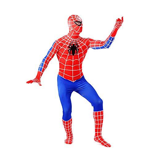 Red Mann Spider Kostüm - Spiderman Kostüm Kinder, Spiderman Kostüm Kinder Junge - 3D Kostüme Anzug Jungen Spandex Halloween Erwachsene Männer Cosplay,Red-Adult+M