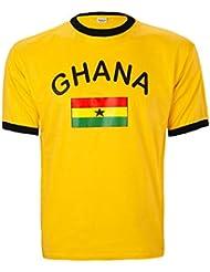 BRUBAKER Herren oder Damen Ghana Fan T-Shirt Gelb Gr. S - XXXL