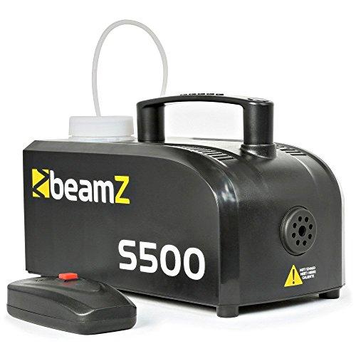 Beamz S500Nebelmaschine, 500W 50m³ + 250ml Flüssigkeit (Flüssigkeit Für Nebelmaschine)
