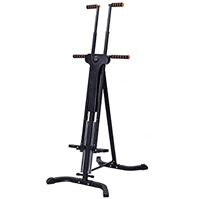 GYMAX Vertical Climbing Machine Foldable Climber Cardio Stepper Home Gym Fat Burning Equipment by GYMAX