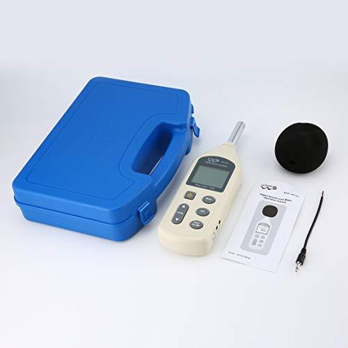 Garciadia WINTACT WT1357 Digitaler Schallpegelmesser Geräusch-Tester Dezibel-Logger-Messung Audio-Detektor Lautstärke-Monitor Handheld A & C (Farbe: Schwarz)