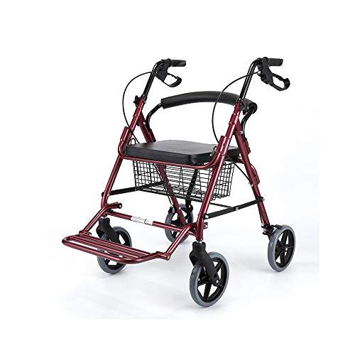 ZSMPY Senior Einkaufswagen Laufkatze Walker Reise Warenkorb kann schieben können Allrad Klapprollstuhl (Color : B) (Schieben Einkaufswagen Für Kinder)