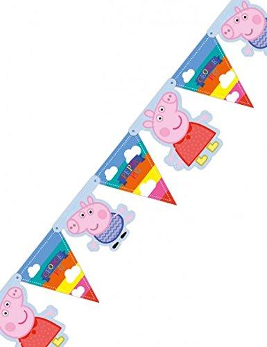 FESTONE-BANDIERINE-PEPPA-PIG-ADDOBBI-COMPLEANNO-BAMBINA-FESTA-PARTY-DECORAZIONI