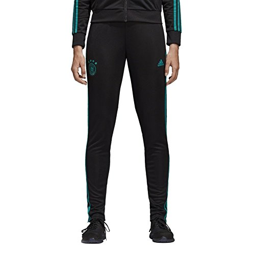 adidas Damen DFB Training Pants Trainingshose, Black/EQT Green s16, S