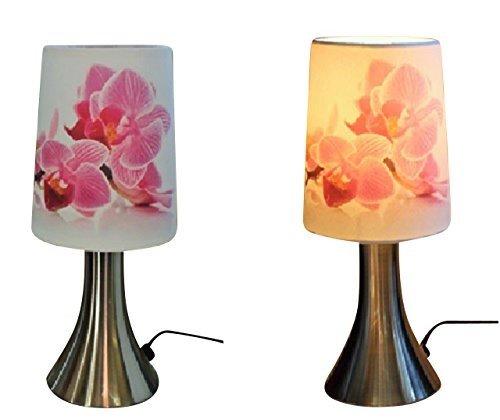 Touch Lampe Orchideen 2er Set Nachttischlampe Lampe Tischlampe mit Touch 16162