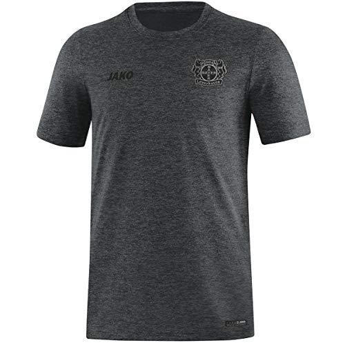 JAKO Herren Premium Basics, (Saison 19/20) Bayer 04 Leverkusen T-Shirt, anthrazit meliert, L