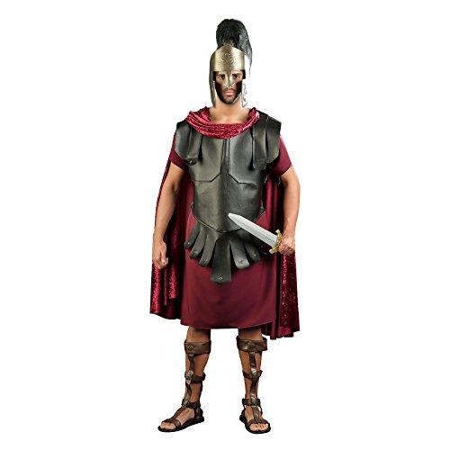 Tunika von Kostüm Soldat römischen Kämpfer für Herren rot schwarz L mehrfarbig