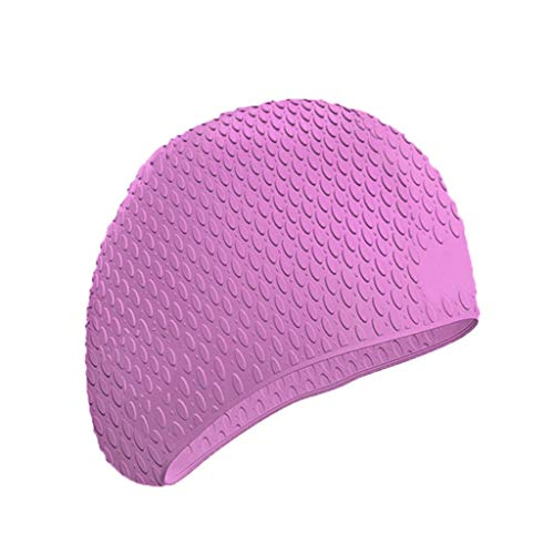 LILIGOD Swim Cap Badekappe Volltonfarbe Swimming Hat Elastic Safety Durable Kappe Flexible Durable Damen Herren Einfarbig Summer Seaside Pool Athlete Fitness Wasserdicht Silikon Swimsuit ()