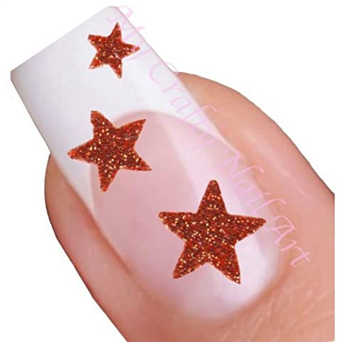 Etoiles autocollants pour nail art adhésif rouge