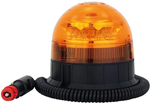 LED Rundumleuchte Orange Mit Magnetfuß, Blinkleuchte 12V 24V , ECE R65 Straßenverkehr Zulassung, KFZ Warnleuchte