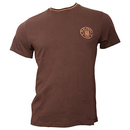 "FC St.Pauli T-Shirt Logo 2016 \""braun\"" (3XL)"