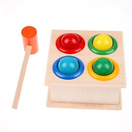 Domybest Hammering Wooden Ball Hammer Spiel Kinder Kinder Early Learning Pädagogisch