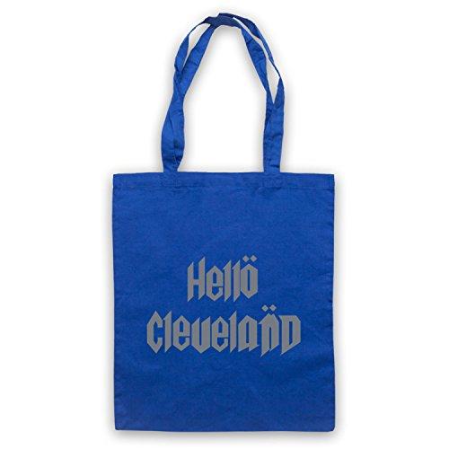 Inspiriert durch Spinal Tap Hello Cleveland Inoffiziell Umhangetaschen Blau