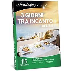 Wonderbox - Cofanetto Regalo per San Valentino - 3 Giorni tra INCANTO E DELIZIE - 115 SOGGIORNI per 2 Persone