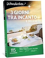 WONDERBOX Cofanetto Regalo per Coppia - 3 Giorni tra INCANTO E DELIZIE - 115 SOGGIORNI per 2 Persone