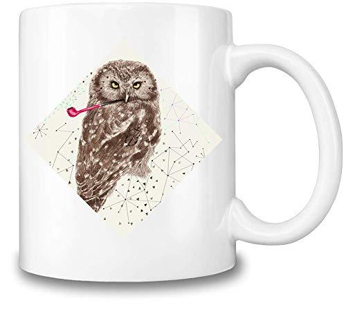 Figaro Interaktyvo Seemann Owl mit Rohr - Sailor Owl with Pipe Coffee Mug Ceramic Coffee Tea Beverage Kitchen Mugs by