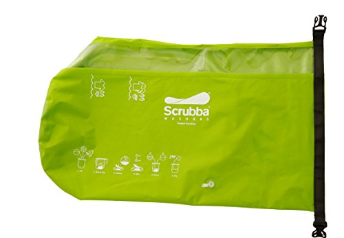 Scrubba 'Wash Bag' Waschsack, Grün, One Size