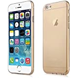 BRG Ultra Thin Transparent TPU Silicone Case Cover for Apple iPhone 6s Plus / 6 Plus (Clear Gold)