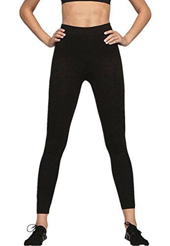 Lever Damen Leggings Yoga Leggins High Waist Tights Jogginghose Laufhose Sporthose Lang Schwarz S