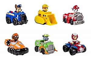 Paw Patrol Racers Bundle of 6 Chase Marshall Rubble Rocky Zuma Ryder by Spin Master