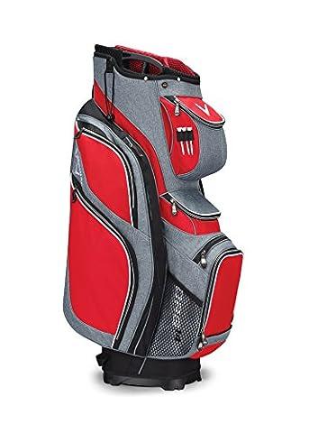 Callaway 2017 ORG 14 Cart Bag Mens Golf Trolley Bag 14-Way Divider Red/Black/White