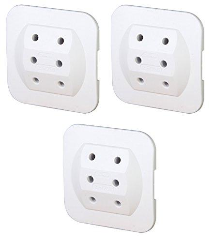 Preisvergleich Produktbild 3er Sparpack Kopp 174902005 Adapter 3-fach extra flach, weiß