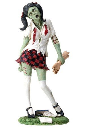 Uniformed School Girl Zombie with Arm in Hand Figurine Statue Display by Summit