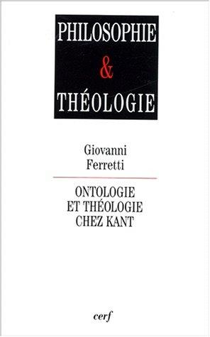 Ontologie et théologie chez Kant. : Relire Kant après Heidegger et Lévinas