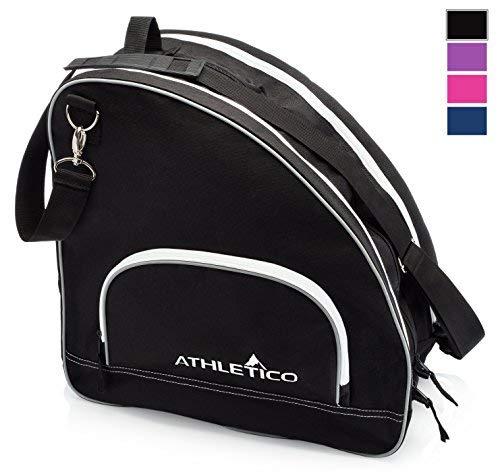 Athletico Schlittschuhtasche - Premium Tasche zum Tragen von Schlittschuhen, Rollschuhen, Inlineskates für Kinder und Erwachsene, Schwarz