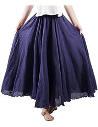 6f74f8a32 Amazon.es: faldas largas - Turquesa / Mujer: Ropa