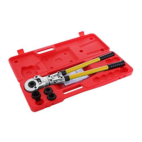BuoQua Pinza Crimpatrice 16-32mm Press Pinza Per Tubi Compositi PEX PE-X Tubo di Piegatura Pinza Crinmping Tool Con Calibratori e Piegatura Springs
