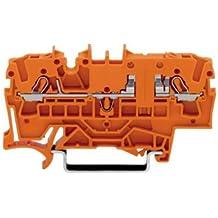 Borne de passage WAGO 2002-1602 5.2 mm ressort de traction orange 1 pc(s)