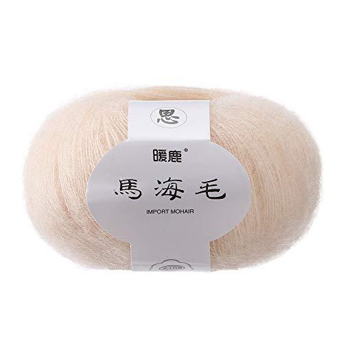 DIY Schal Weiches Mohair stricken Wolle Garn häkeln Thread Supplies Kunsthandwerk Handstrickgarn Strickgarn Warm Natürliche Strick Crochet Strickwaren Häkeln Strickwolle Mohair Häkelgarn Stricken (M) -