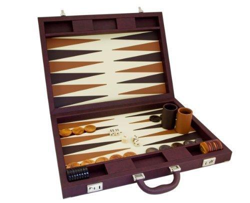 Luxus Braun Backgammon Set